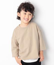 devirock(デビロック)のスリット入りミニ裏毛7分袖Tシャツ カットソー(Tシャツ/カットソー)