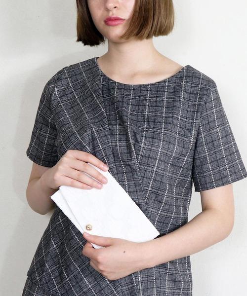 【CIBRE/シブレ】タッセル付き オシャレ袱紗(ふくさ) 水引ボタン 刺繍レース袱紗