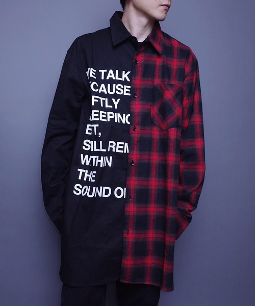 AFYF 2TONE MIX LONG SHIRT
