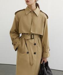 【Fano Studios】【2021SS】Raglan sleeve belted trench coat cb-3 FC21W044ベージュ