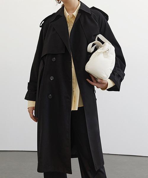 【Fano Studios】【2021SS】Raglan sleeve belted trench coat cb-3 FC21W044