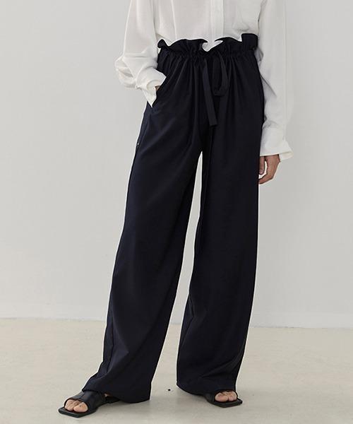 【UNSPOKEN】Gather waist relax pants UD20K030