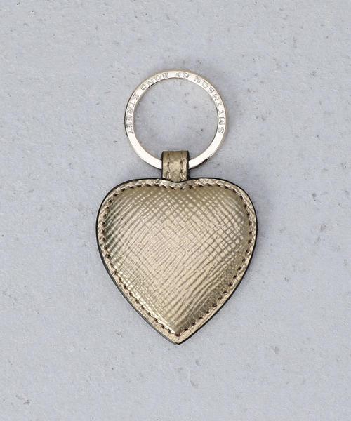 <SMYTHON>PANAMA HEART KEYRING GOLD/キーリング.