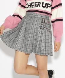 PINK-latte(ピンク ラテ)のチェック切替 スカート(スカート)
