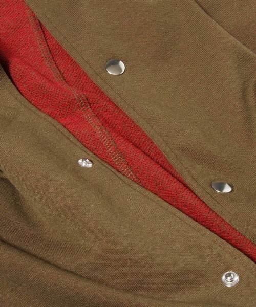 【IFRUN ORIGINAL】配色裏毛スタンドカラージャケット