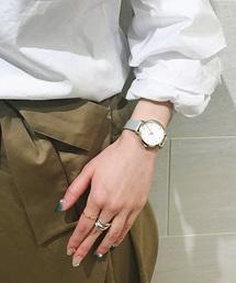 ete(エテ)のボーイフレンドウォッチ ダイヤモンド×レザーベルト(腕時計)
