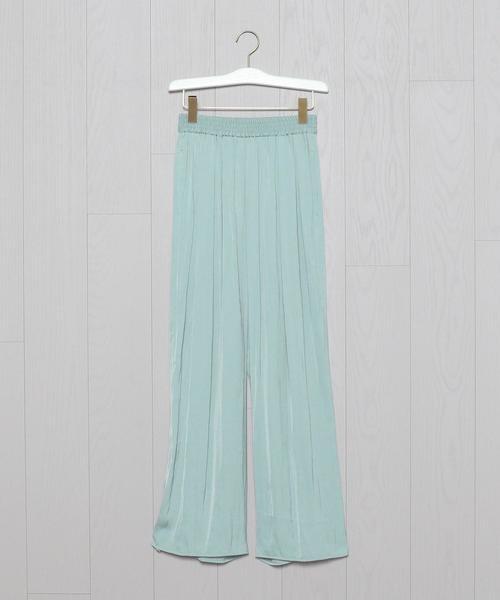 <H>SATIN EASY LONG PANTS/パンツ