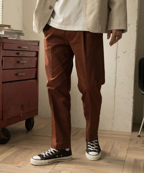 URBAN RESEARCH DOORS(アーバンリサーチドアーズ)の「【一部WEB限定カラー/サイズ】スモーキートーン ワンタックパンツ(その他パンツ)」|オレンジ