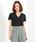 Demi-Luxe BEAMS(デミルクス ビームス)の「AURALEE / シームレス VネックTシャツ(Tシャツ/カットソー)」|ブラック