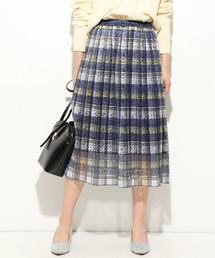 ViS(ビス)の【WEB限定】レースプリーツスカート(スカート)