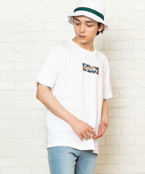 WEGO/総柄ボックスTシャツ