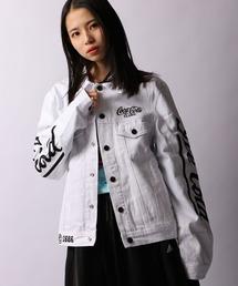 【STAPLE×Coca Cola】Wネーム コカ・コーラ 刺繍デニムジャケット(デニムジャケット)