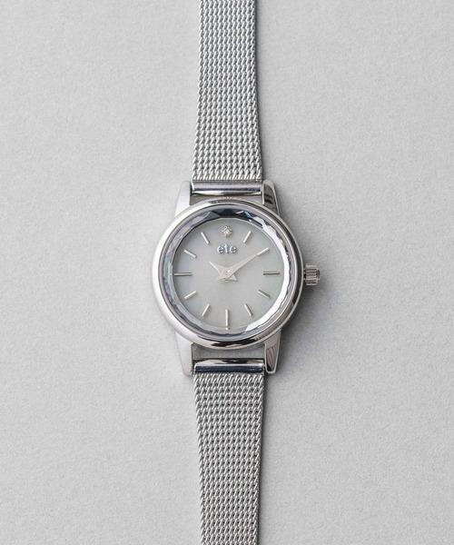 ete(エテ)の「ソーラーウォッチ メッシュベルト(アナログ腕時計)」|C