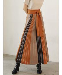 LAGUNAMOON(ラグナムーン)のパネルカラーニットスカート(スカート)