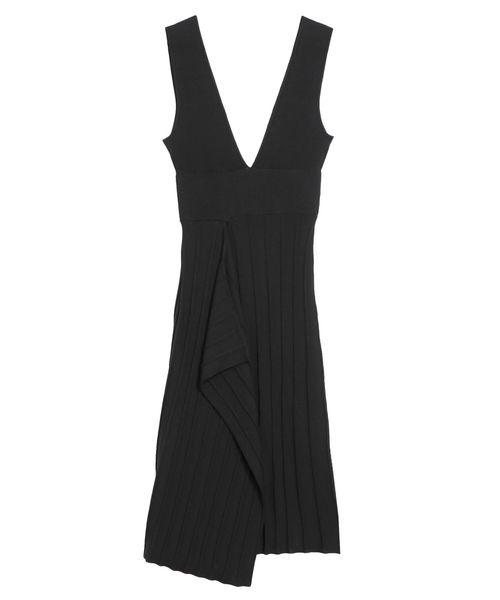 LAGUNAMOON(ラグナムーン)の「アシンメトリーヘムニットジャンパースカート(スカート)」|ブラック
