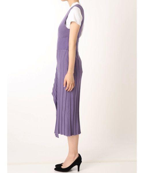 LAGUNAMOON(ラグナムーン)の「アシンメトリーヘムニットジャンパースカート(スカート)」|詳細画像