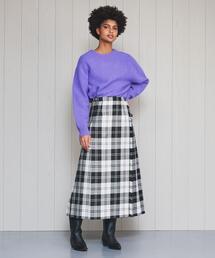 <O'NEIL of DUBLIN>CLASSIC MAXI KNIT EXTRA BELT SKIRT/スカート