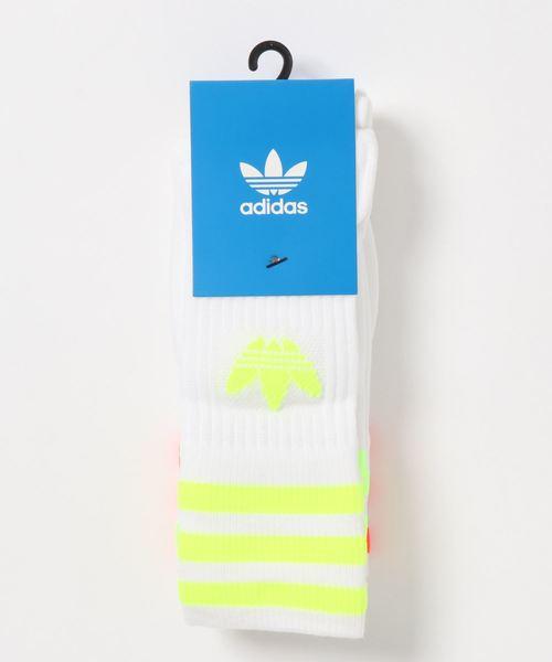 adidas Originals(アディダスオリジナルス)の「adidas originals アディダスオリジナルズ/ソックス3足組 靴下 3piece/ SOLID CREW SOCKS(ソックス/靴下)」 マルチ