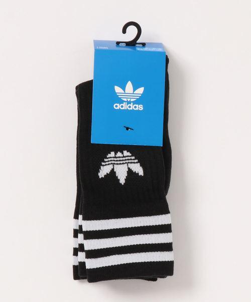 adidas Originals(アディダスオリジナルス)の「adidas originals アディダスオリジナルズ/ソックス3足組 靴下 3piece/ SOLID CREW SOCKS(ソックス/靴下)」 ブラック