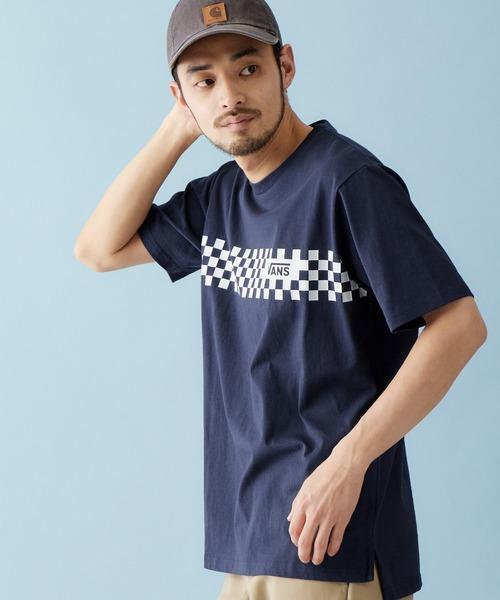 VANS/ヴァンズ Line Check Print T-Shirt チェックプリント半袖Tシャツ