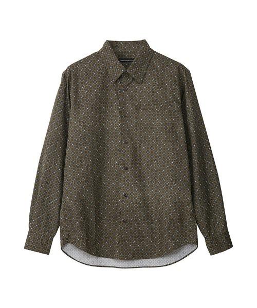 ROSE GARDEN柄 レギュラーカラーシャツ
