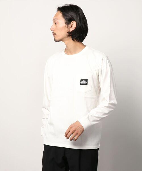 【 MOUNTAIN SMITH / マウンテンスミス 】ロングスリーブ ポケットTシャツ ポケT 長袖Tシャツ ロンT