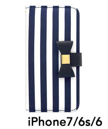 7b5bff4334 UNiCASE BLUE LABEL(ユニケース ブルー レーベル)の「Ribbon Diary Stripe for iPhone8/