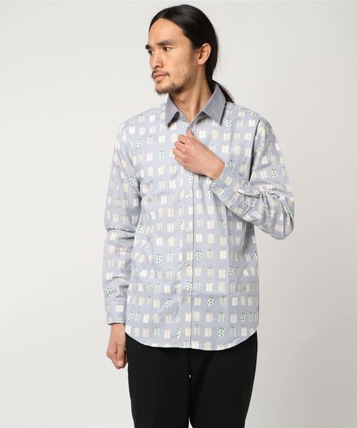 GGD /【ROBERT KAUFMAN / ロバートカウフマン】総柄レギュラーシャツ 日本製-made in Japan-