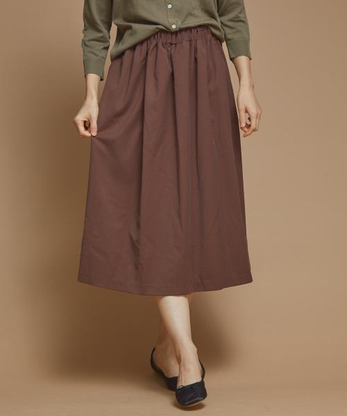 collex(コレックス)の「ミモレ丈ギャザースカート(スカート)」 ブラウン