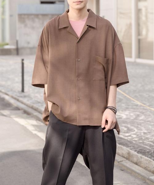 <新柄登場>【BASQUE -enthusiastic design-】ドレープ リラックス オープンカラーシャツ(アロハ/無地/ペイズリー/フラワー)