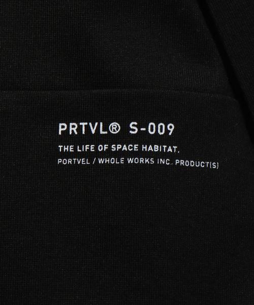 <PORTVEL> HALF ZIP TEE/Tシャツ