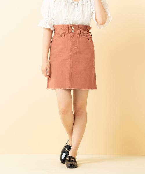 ウエストシャーリング台形スカート