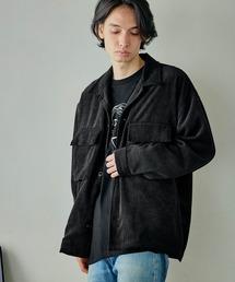 ビッグシルエット シェフCPOシャツジャケットブラック系その他