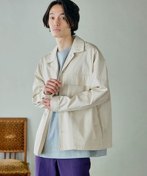 ビッグシルエット シェフCPOシャツジャケットオフホワイト