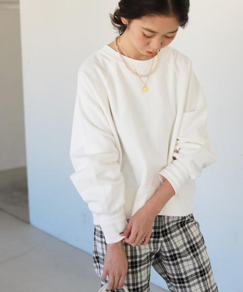 裏毛クロップドプルオーバー【手洗い可能】◆