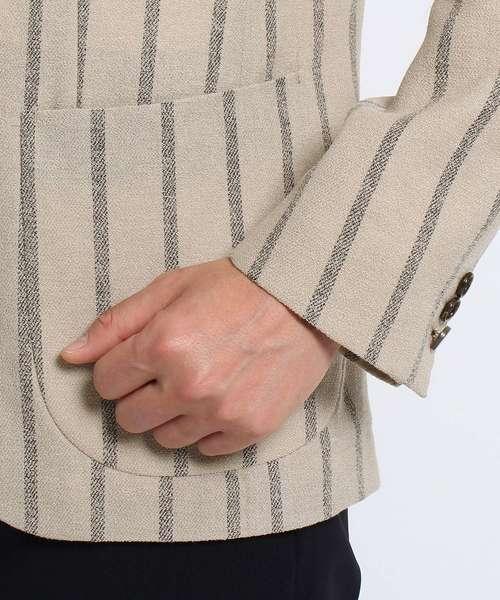 砂子縞柄シングルジャケット[ メンズ ジャケット ]