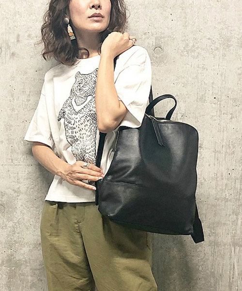 【BURLAP OUTFITTER×ear】(RED LIST)熊Tシャツ