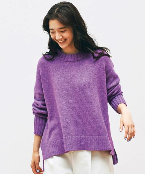 【佐藤かなさんプロデュース 】アヴェクモワ 差し色ニットセーター