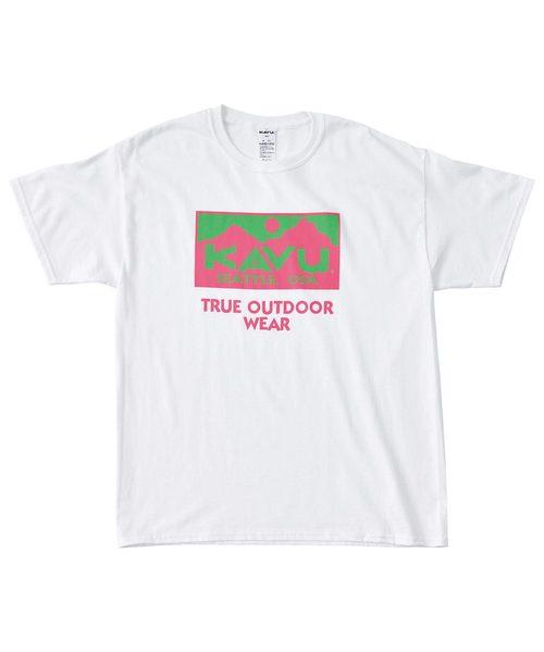 KAVU カブー トゥルーロゴ2カラーTシャツ