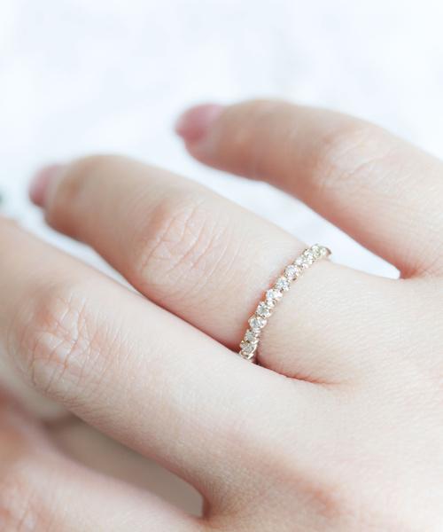 定番 cui-cui[キュイキュイ]K10YG 759605007/ ダイヤモンド/ ハーフエタニティリング(リング)|cui-cui(キュイキュイ)のファッション通販, タイセイチョウ:59a7679d --- ulasuga-guggen.de