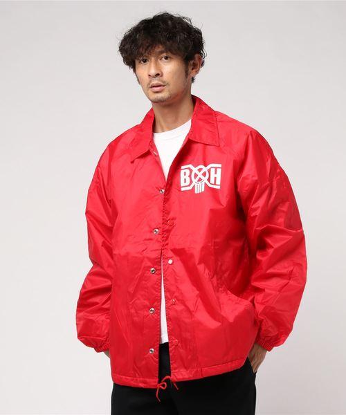 全国総量無料で BxH Cardinal Coach Logo BOUNTY Coach Jkt(ナイロンジャケット)|BOUNTY Logo HUNTER(バウンティーハンター)のファッション通販, YouNewShop:a0b881f4 --- svarogday.com