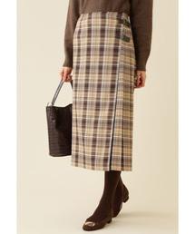 NATURAL BEAUTY BASIC(ナチュラルビューティベーシック)のチェックキルトスカート(スカート)