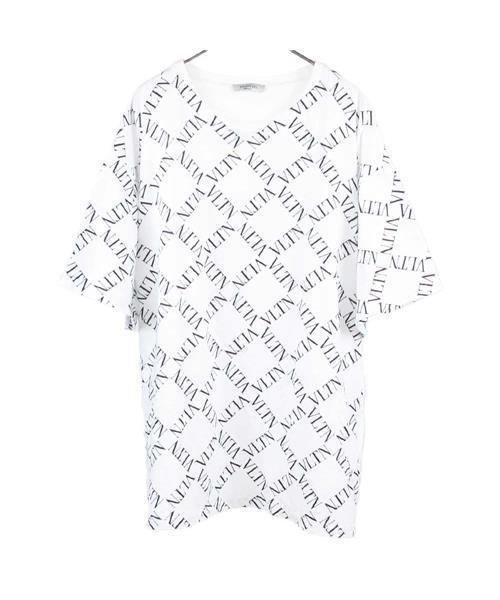 【送料無料】 総柄ロゴプリントTシャツ, ciel bleu 2e7081fc