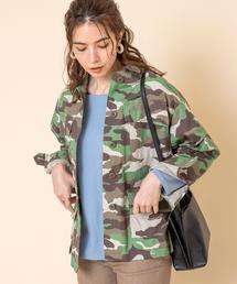 リップストップミリタリーシャツジャケット