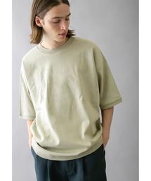 <monkey time> CTN MILANO RIB TEE/ニットTシャツ