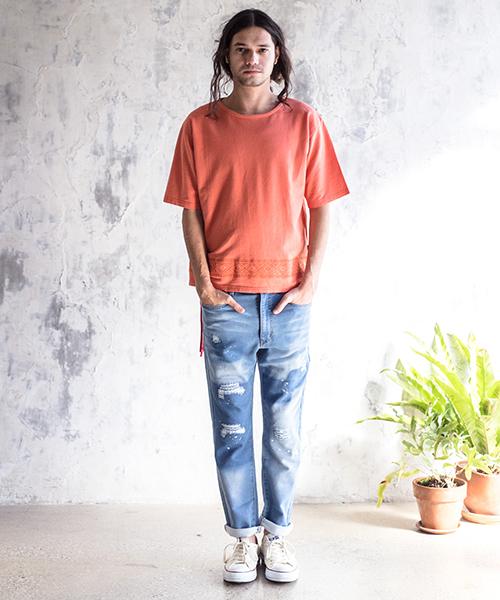 mt4817-Hemp Cotton Wide Tee Tシャツ