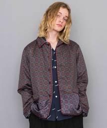 【JohnUNDERCOVER】小紋柄ジップシャツブルゾン(ブルゾン)