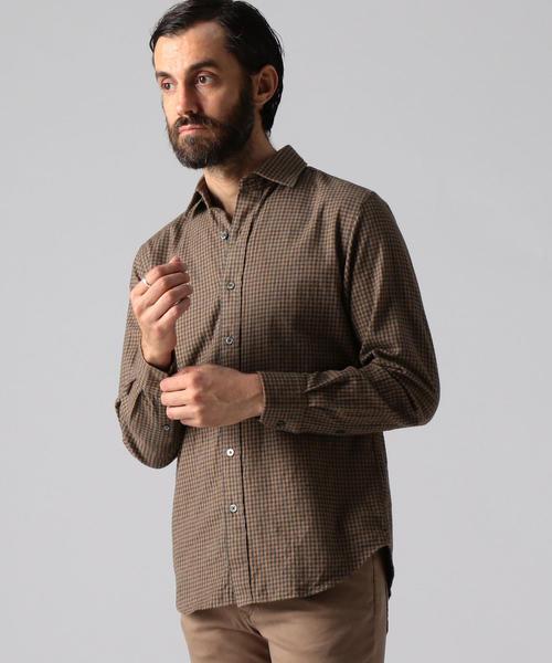 即納!最大半額! 【セール】コットンフランネル セミワイドカラーシャツ(シャツ/ブラウス) TOMORROWLAND(トゥモローランド)のファッション通販, アガノシ:9b469635 --- skoda-tmn.ru