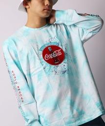 【STAPLE】タイダイ染めフロント刺繍パッチ長袖Tシャツ(Tシャツ/カットソー)