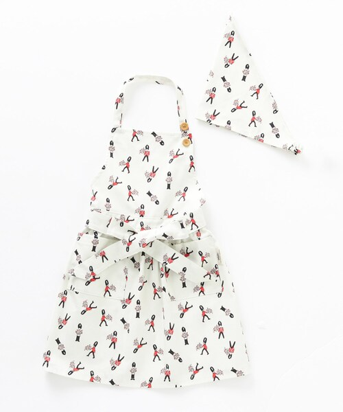 LAURA ASHLEY(ローラアシュレイ)の「三角巾付きキッズエプロン(エプロン)」 ホワイト系1